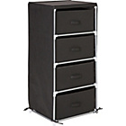 more details on Metal and Polycotton 4 Drawer Storage Unit - Black.