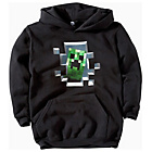 more details on Minecraft Creeper Inside Boys' Black Hoodie.