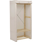 more details on Polycotton and Pine Single Wardrobe - Cream.