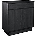 more details on Cubes 2 Door 1 Drawer Small Sideboard - Black Ash.