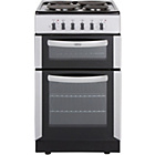 more details on Belling FSE50FDO Double Electric Cooker - Silver/Exp.Del.