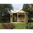 more details on Sandringham Octagonal Garden Gazebo - Natural.
