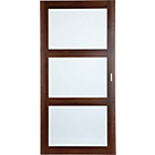 more details on Schreiber Sliding Wardrobe Door - Roma Walnut with Glass.