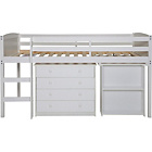 more details on Kelsey Mid Sleeper Bed Frame with Desk - White.