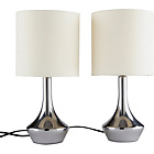 more details on ColourMatch Pair of Touch Table Lamps - Cream.
