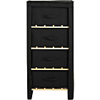 more details on Polycotton and Pine 4 Drawer Storage Unit - Black.