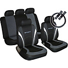 more details on Sport Seat Cover, Steering Wheel and Seat Belt Pads - Grey.