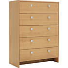 more details on Seville 5 Drawer Chest - Beech Effect.