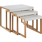 more details on Habitat Kilo Nest of 3 Tables - White.