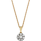 more details on 9ct Gold 0.50ct tw Diamond Cluster Pendant.
