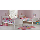 more details on Detachable Single Bunk Bed Frame with Storage - White.
