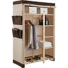 more details on Polycotton and Pine Double Wardrobe - Cream & Chocolate.
