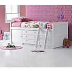 more details on Tory Single Mid Sleeper Bed Frame - White.
