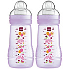 more details on MAM 270ml Baby Bottle 2 Pack - Pink.