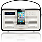 more details on View Quest Retro DAB Radio iPod Dock - Black.