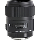 more details on Sigma 35mm f/1.4 A Series Canon Fit Lens.