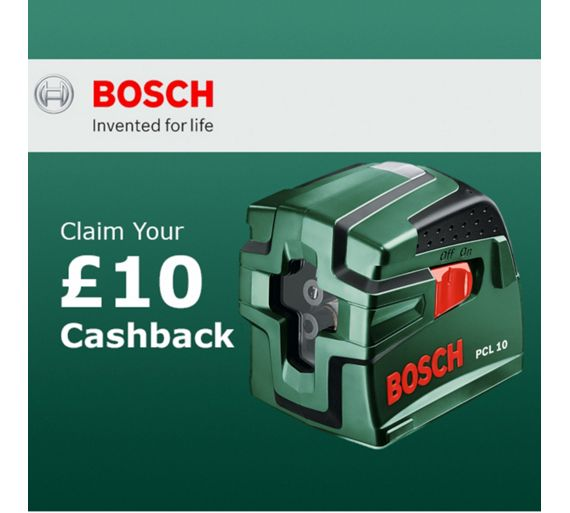 Buy bosch pcl 10 cross line laser set and tripod at argos for Niveau laser pcl 10