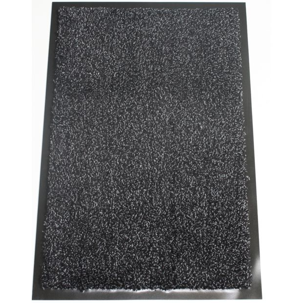 buy washamat black doormat 90 x 60cm at