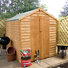 more details on Mercia Garden Overlap Double Door Wooden Shed 8 x 6ft.