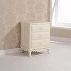 more details on Evelyn 3 Drawer Chest - Ivory.