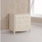 more details on Evelyn 2+2 Drawer Chest - Ivory.