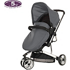 more details on Obaby Chase 3 Wheeler Pramette - Black and Grey.
