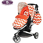 more details on Obaby Chase 3 Wheeler Pushchair - ZigZag Orange.