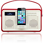 more details on View Quest Retro DAB Radio with Lightning iPod Dock - Red.