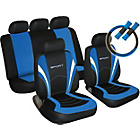 more details on Sport Seat Cover, Steering Wheel and Seat Belt Pads - Blue.