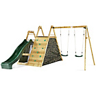 more details on Plum Climbing Pyramid Wooden Play Centre with Double Swings.