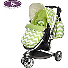 more details on Obaby Chase 3 Wheeler Pushchair - ZigZag Lime.