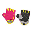 more details on Reebok Magenta Fitness Gloves - Large.