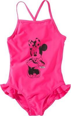 Disney Minnie Mouse Girls' Neon Pink Swimsuit - 2-3 Years