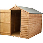 Mercia Garden Overlap Wooden Apex Shed 8 x 6ft.