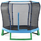 more details on Plum Products 7ft Trampoline & Enclosure - Blue/Green.