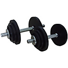 more details on Gold's Gym Cast Iron Dumbbell Set - 20Kg.