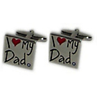 more details on I Love My Dad Cufflinks.
