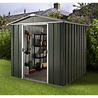 Deluxe Apex Metal Shed with Support Frame - 6 x 4ft