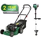 more details on Qualcast Petrol Cordless Lawnmower 125CC And Trimmer 29CC.