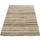 more details on Abstract Shaggy Natural Rug - 80 x 150cm.