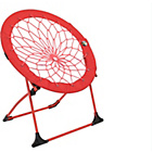 more details on Bunjo Fabric Bungee Chair - Red.