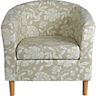 more details on HOME Floral Fabric Tub Chair - Natural.