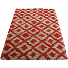more details on Diamond Shaggy Red Rug - 80 x 150cm.
