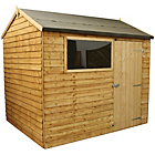 more details on Mercia Garden Overlap Wooden Reverse Apex Shed 8 x 6ft.