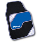 more details on Rezistanz X Sport 4 Piece Car Mat Set - Black and Blue.