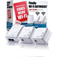 Devolo dLAN 500 Wireless 500Mbps Powerline Adapter Kit (Triple Pack)