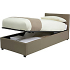 more details on Hygena Ophelia Single Ottoman Bed Frame - Latte.