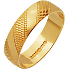 more details on 9ct Gold Diamond Cut Wedding Ring - 5mm.