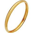 more details on 9ct Gold Rolled Edge D-Shape Wedding Ring - 2mm.