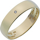 more details on 9ct Gold Diamond Set Commitment Ring - 6mm.